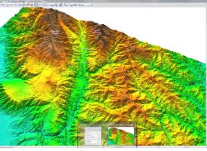 Imagen 3. Visualización en 3D en GRASS GIS a lo largo del río Chama.